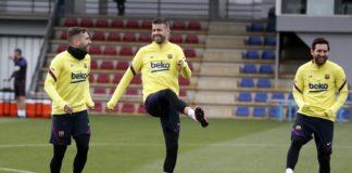 Piqué-comemora-aniversário-com-o-retorno-aos-treinos-do-Barcelona