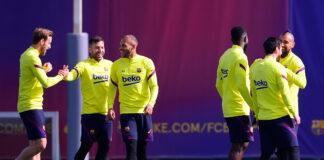 Barcelona-volta-aos-treinos-com-Griezmann-e-Dembélé