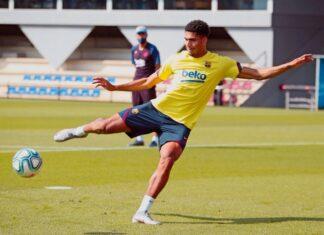 Barcelona-Ronald-Araújo-treina-e-poderá-enfrentar-o-Sevilla